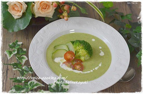 ズッキーニとブロッコリーのスープ3