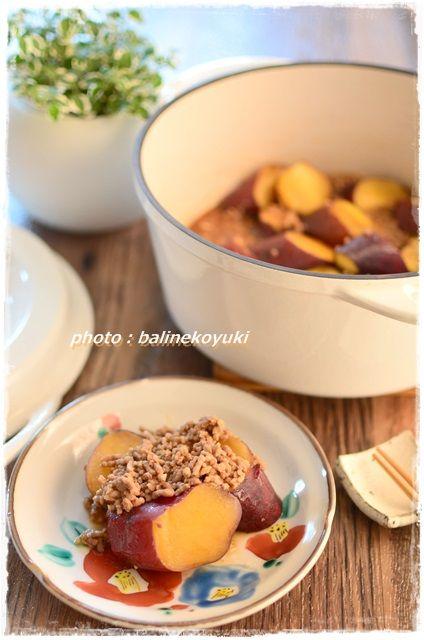 さつま芋のそぼろ煮2