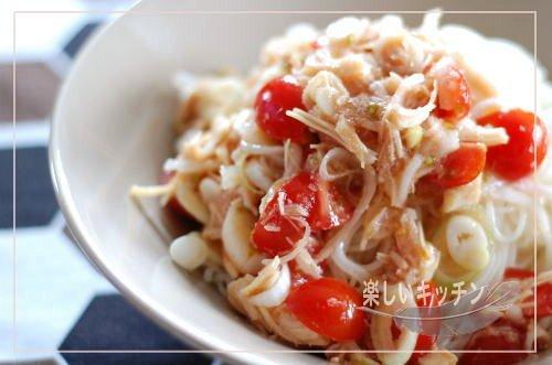 冷しゃぶレモンと明太子の素麺
