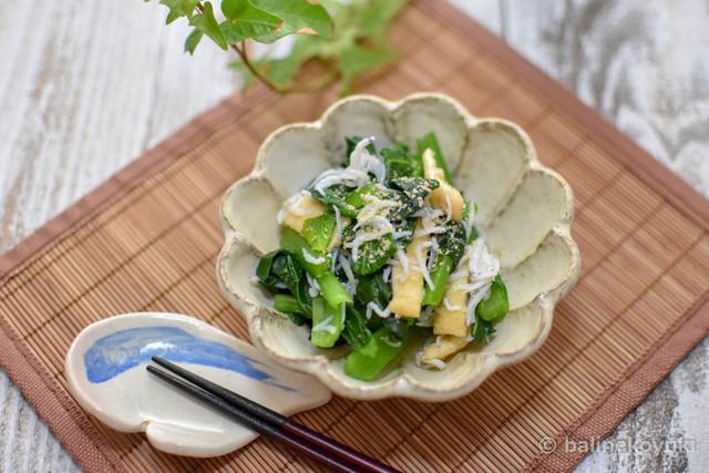 20180107-しらすと小松菜の和え物(横画像)