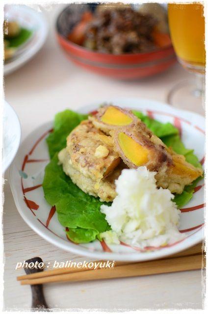 安納芋と豚肉の天ぷら2