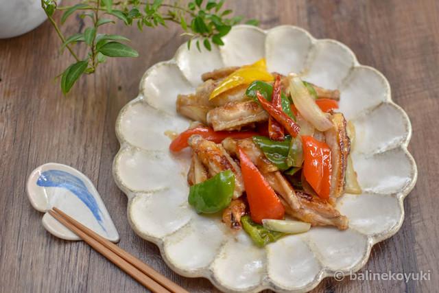 鶏手羽中のスイートチリソース炒め(横)