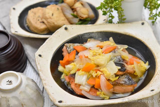 鮭と白菜のさっぱり炒め蒸し1