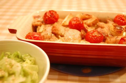 鶏とズッキーニのオーブン焼き