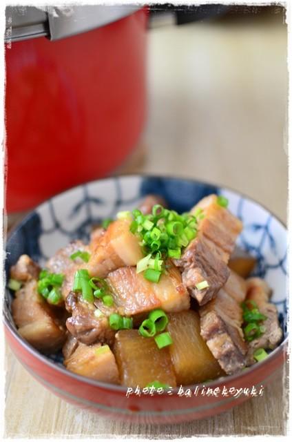 大根入り豚の角煮メープル風味