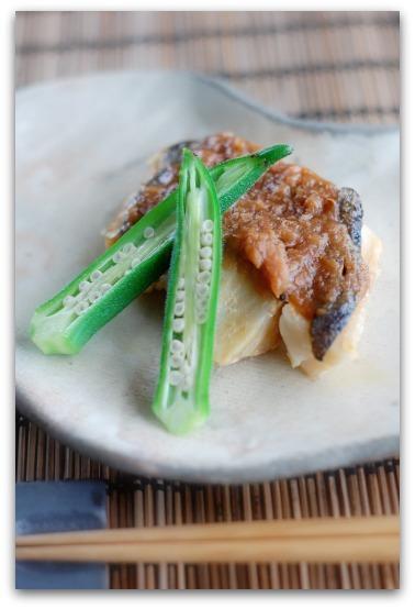 楽しいキッチン-白も魚の梅焼き