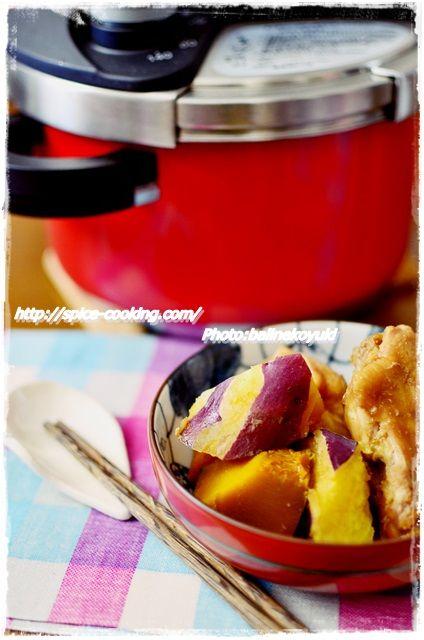 手羽元とさつま芋の煮物1