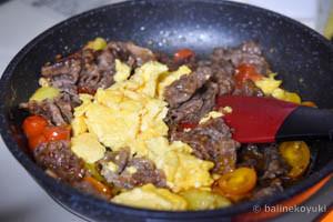 牛肉とミニトマトのごち醤油炒め工程7