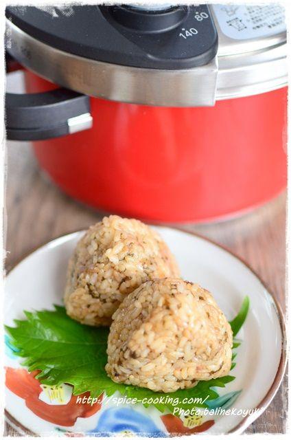 塩昆布と梅の炊き込みご飯2