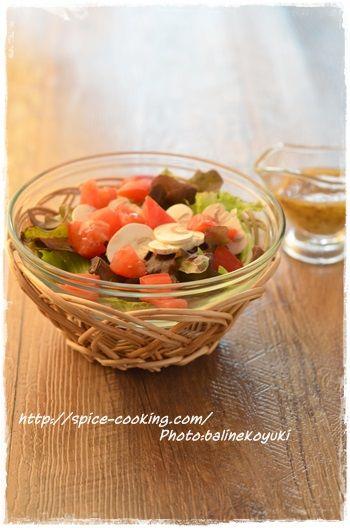 マッシュルームのサラダ1
