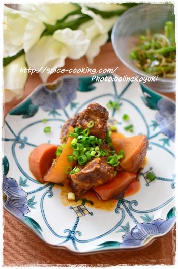 豚ロースのピリ辛コチュジャン煮