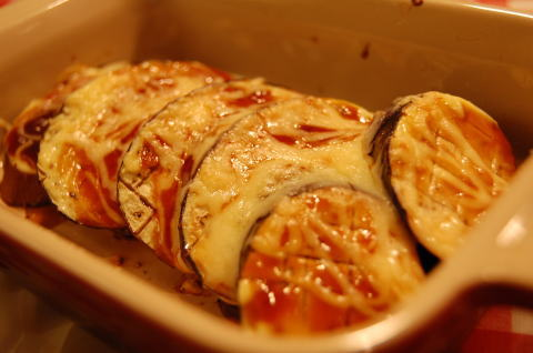 茄子のオイマヨ焼き