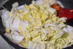 鮭と白菜のさっぱり炒め蒸し工程5