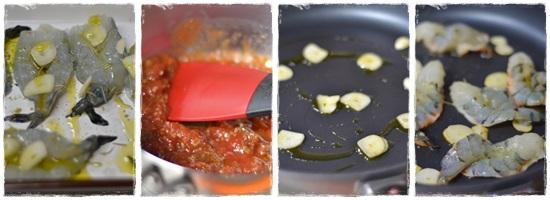 エビとトマトのバジルソース4