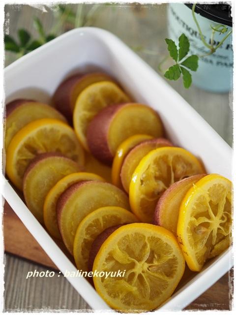 さつま芋のメープルレモン煮1
