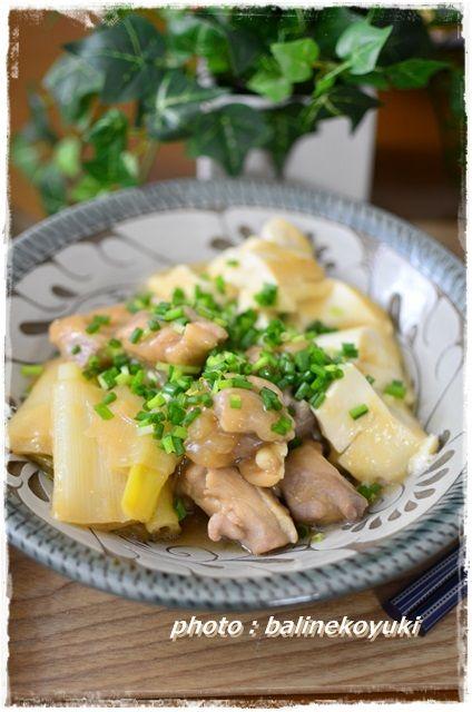 鶏肉と豆腐の白味噌煮1