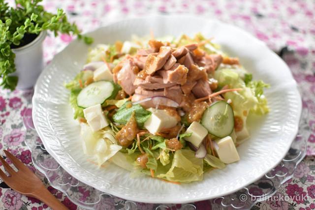 20170807-豆腐とツナの胡麻味噌サラダ(横画像)