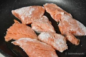 鮭と白菜のさっぱり炒め蒸し工程2