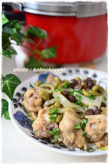 手羽元と豆煮2