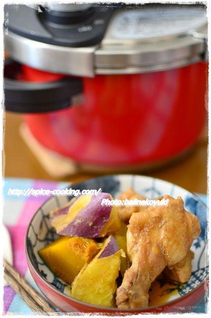 手羽元とさつま芋の煮物2