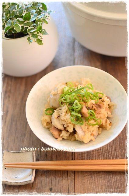 鶏肉と里いもの炊き込みご飯2