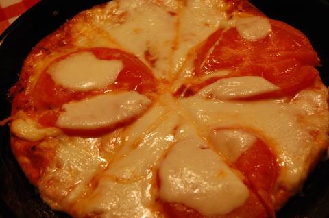 トマトのピザ