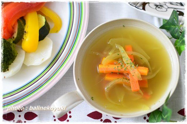 スープと温野菜1