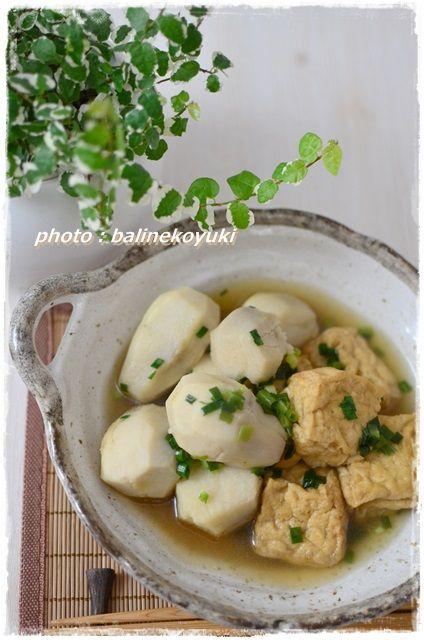 厚揚げと里芋の白煮1