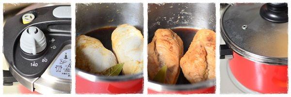 鶏胸肉の白ワイン煮作り方2