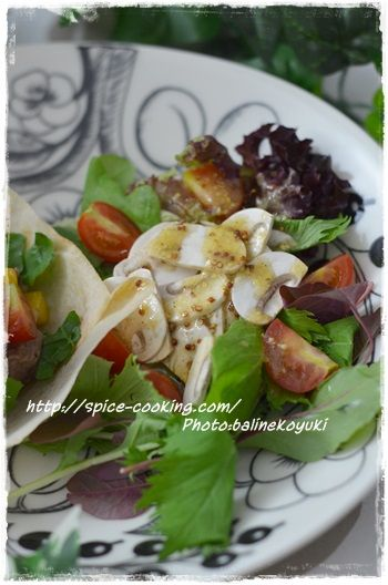マッシュルームのサラダ2