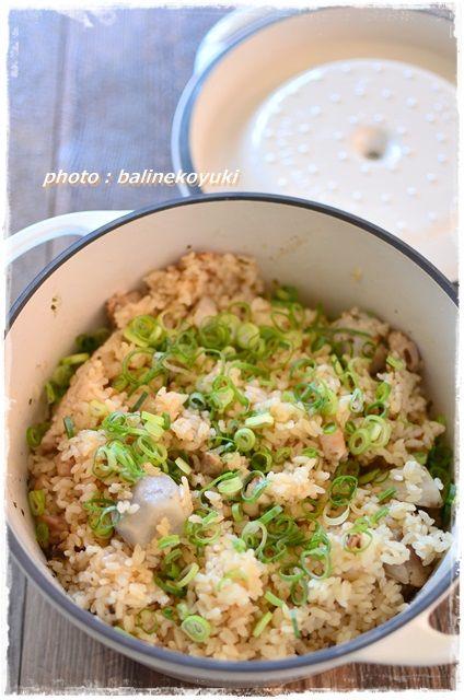 鶏肉と里いもの炊き込みご飯5