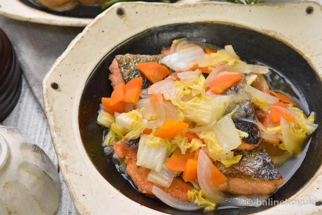鮭と白菜のさっぱり炒め蒸し3