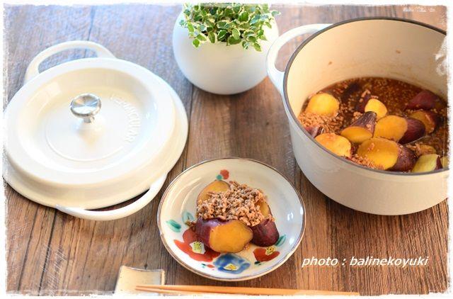 さつま芋のそぼろ煮3