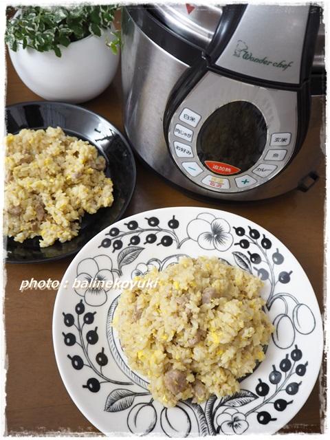 圧力鍋炒飯1