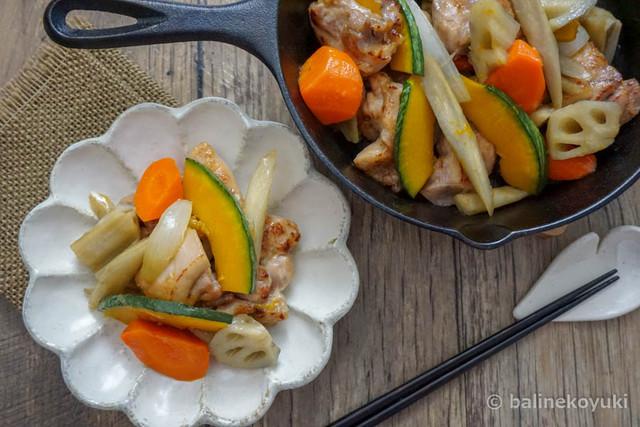 20170710-塩こうじでしっとりコク旨!鶏肉と根菜の甘辛炒め(横)