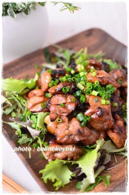 鶏肉の黒酢焼き1
