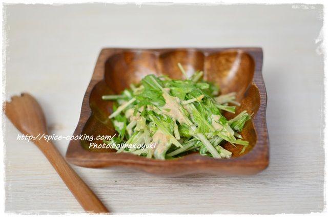 ツナと水菜のサラダ2