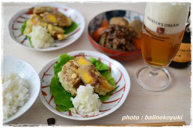 安納芋と豚肉の天ぷら1