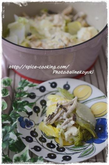 豆腐と白菜のチーズ蒸し