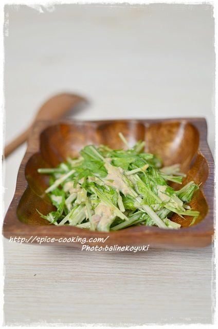 ツナと水菜のサラダ1