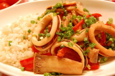 イカの生姜醤油炒め