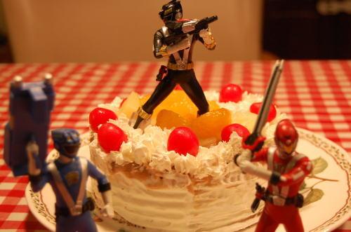 ゴーオンジャーのケーキ