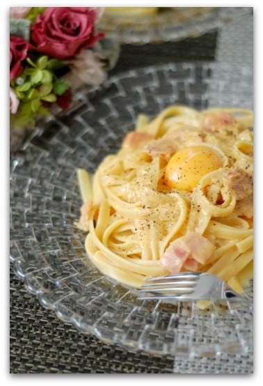 楽しいキッチン-カルボナーラ