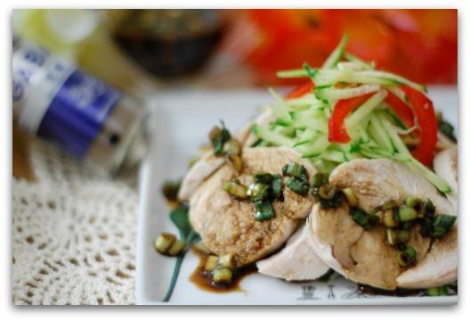 楽しいキッチン-鶏胸肉の花椒ドレッシング