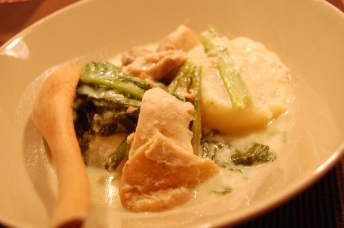 蕪の豆乳煮