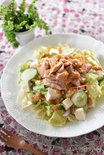 20170807-豆腐とツナの胡麻味噌サラダ(縦画像)