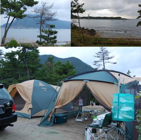 海のキャンプ