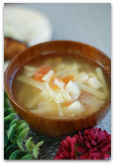 楽しいキッチン-具沢山和風スープ