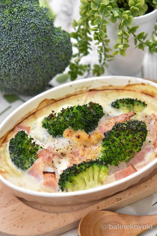ブロッコリーと大根の豆乳味噌グラタン