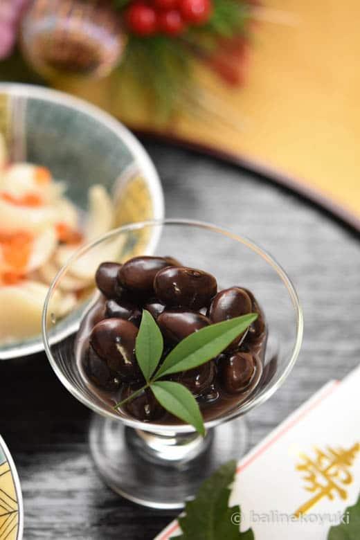 黒豆の赤ワイン煮
